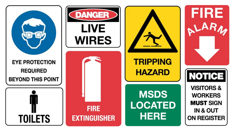 Color Codes for Workplace Signs - Asert Safety